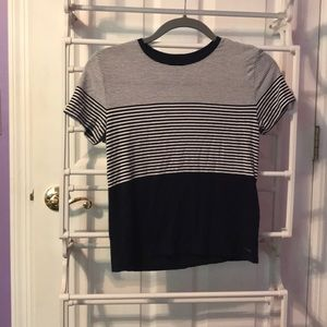 Navy and white stripped t-shirt